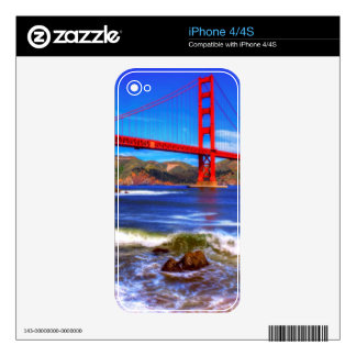 This is a 3 shot HDR image of the Golden Gate Skin For iPhone 4S