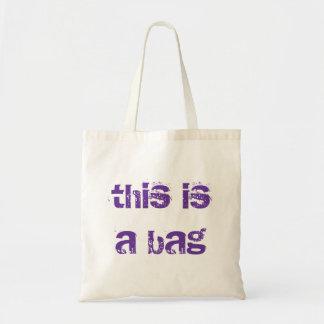 This is a bag Environmentally friendly shopping