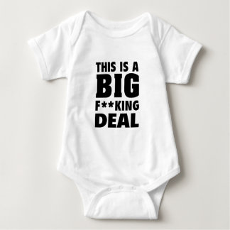 This Is A Big Fucking Deal (Black) Baby Bodysuit