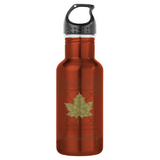 This is a complete leaf. 18oz water bottle