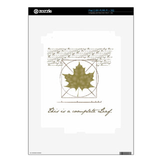 This is a complete leaf iPad 2 skin