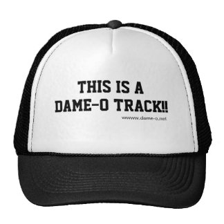 This is a Dame-O Track Hat2 Trucker Hat