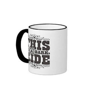 This is a dark ride coffee mugs