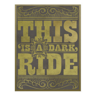This is a dark ride postcard