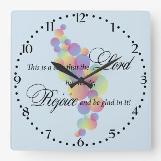 This is a Day the Lord has made Square Wall Clock