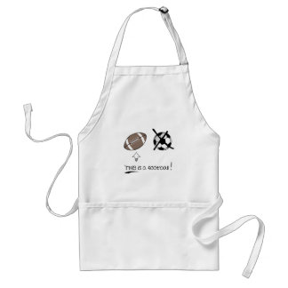 THIS is a football Aprons