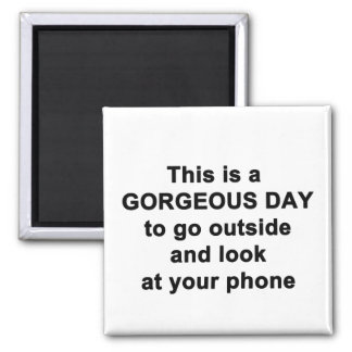 This is a Gorgeous Day Magnet