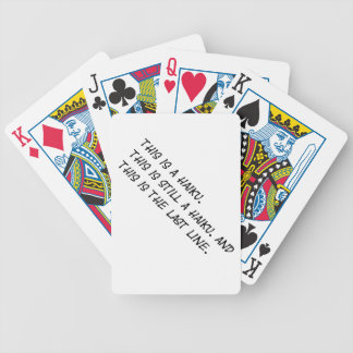 """""""This is a Haiku"""" Funny Poem - Ironic Meme Bicycle Playing Cards"""