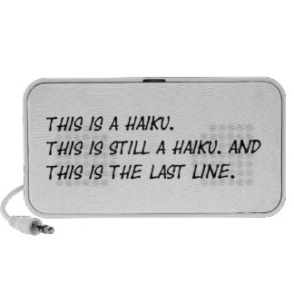 """""""This is a Haiku"""" Funny Poem - Ironic Meme Mp3 Speakers"""