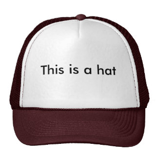 """""""This is a hat"""" hat"""