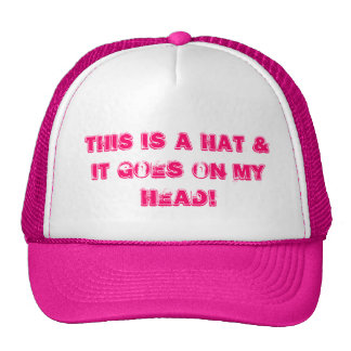This Is a Hat & it goes on my Head!