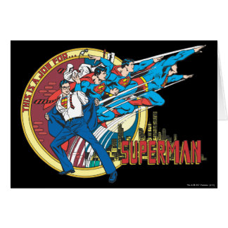 This is a job for�Superman Greeting Card