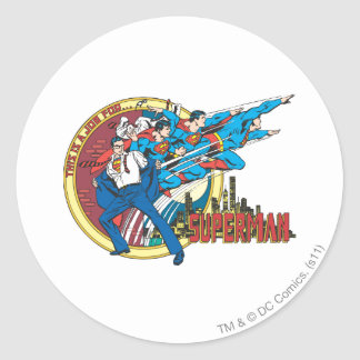 This is a job for�Superman Round Sticker