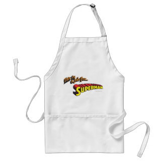 This is a job for�Superman Text Adult Apron