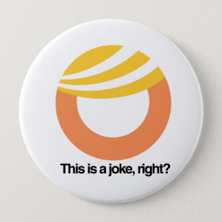 This is a joke right - Trump Toupee Logo -- Anti-T Button