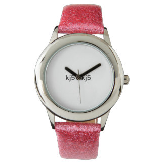THIS IS A KJ5 SIGNATURE LOGO PINK FANCY WATCH