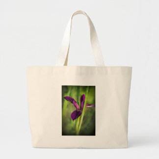 This is a Louisiana Gamecock Wildflower - Iris hex Large Tote Bag