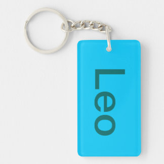 this is a nickname Single-Sided rectangular acrylic keychain