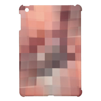 This is a pink and flesh color pixel image cover for the iPad mini