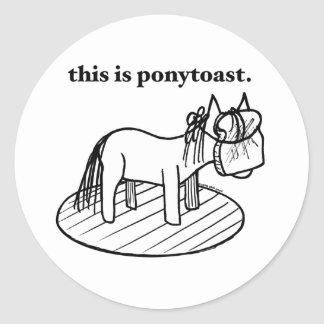 this is a ponytoast sticker
