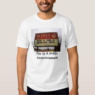 This Is A Public Announcement T-Shirt