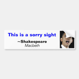 This is a sorry sight bumper sticker