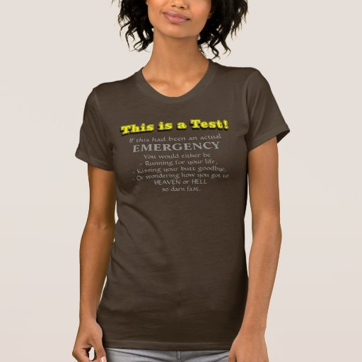 This is a Test T-shirts, Yellow text