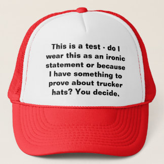 This is a test trucker hat