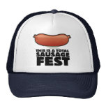 This is a Total Sausage Fest Hats