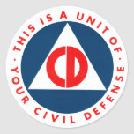 This is a Unit of Your Civil Defense Decal Classic Round Sticker