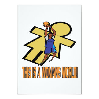 This Is A Womans World Card