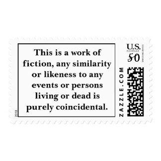 This is a work of fiction, any similarity or li... postage