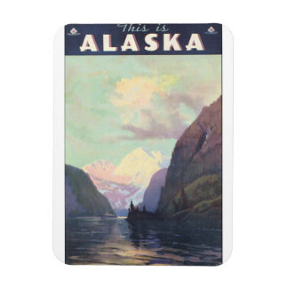 This is Alaska Vintage Travel Poster Artwork Rectangular Photo Magnet