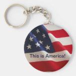 This is America! Basic Round Button Keychain