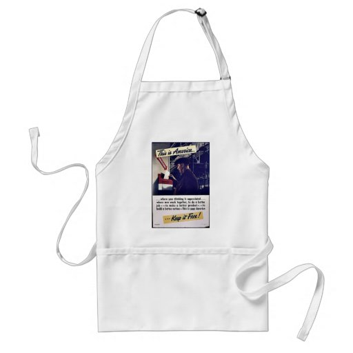This Is America Keep It Free! Adult Apron