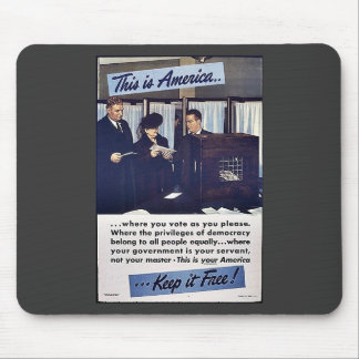 This Is America Keep It Free! Mouse Pad