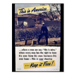 This Is America Keep It Free! Post Card