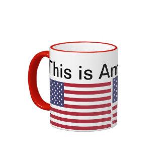 This is America ... Ringer Coffee Mug
