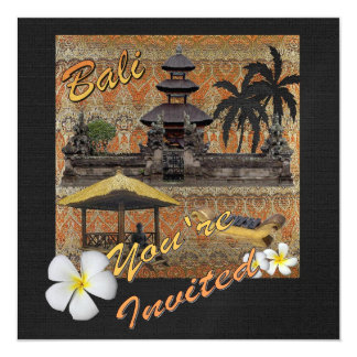 "This is Bali 5.25"" Square Invitation Card"