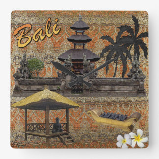 This Is Bali Square Wall Clock