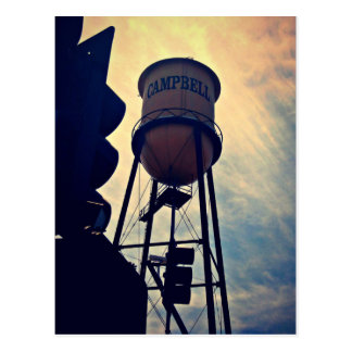 This is Campbell CA, Campbell Water Tower Postcard