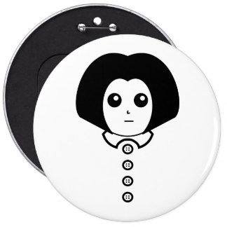 This is Candace. On a button. Pinback Button