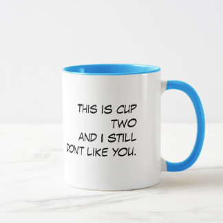 """""""This Is Cup Two"""" White & Teal Funny Coffee Mug"""