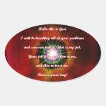 This is God Sticker Oval Sticker