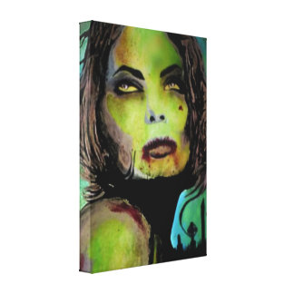 'This is Goodbye' Zombie Stretched Canvas Print