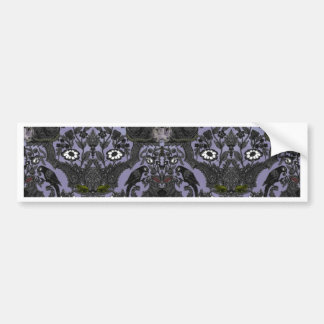 This Is Halloween ~ Haunted Damask Bumper Sticker