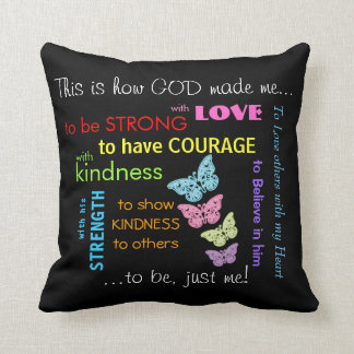 This is how God made me... Throw Pillow