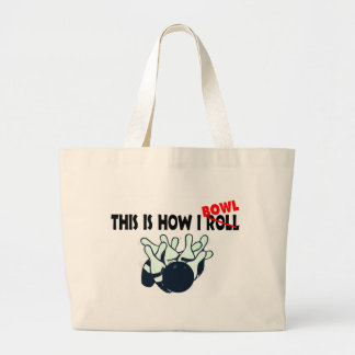 This Is How I Bowl Large Tote Bag