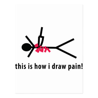 this is how i draw pain postcard