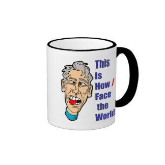 This is How I Face the World Ringer Mug